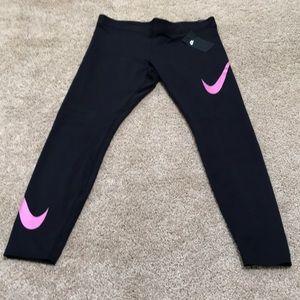 NWT! Nike XL black tight fit regular length tights